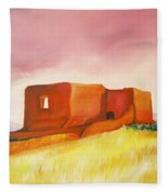 Pecos Mission Nm Fleece Blanket
