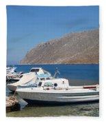 Pedi Harbour Symi Fleece Blanket