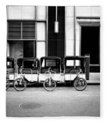 Pedicab Nyc Fleece Blanket