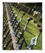 Peeling Graveyard Perspective Fleece Blanket