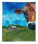 Peeping Bessie Fleece Blanket