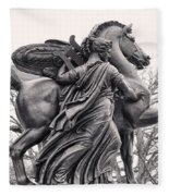 Pegasus Tamed By The Muses Erato And Calliope Fleece Blanket