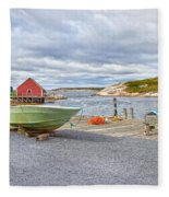 Peggy's Cove 1 Fleece Blanket