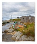 Peggy's Cove 12 Fleece Blanket