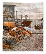 Peggy's Cove 17b Hue Fleece Blanket
