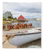 Peggy's Cove 4 Fleece Blanket