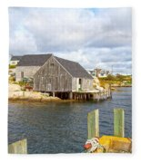 Peggy's Cove 6 Fleece Blanket