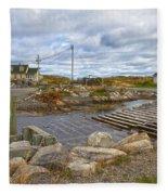 Peggy's Cove 8 Fleece Blanket