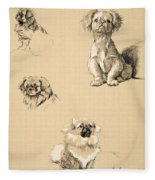 Pekes, 1930, Illustrations Fleece Blanket