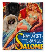 Pekingese Art - Salome Movie Poster Fleece Blanket