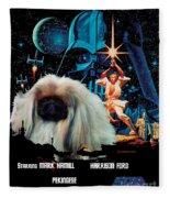 Pekingese Art - Star Wars Movie Poster Fleece Blanket