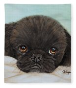 Buddy The Pekingese Fleece Blanket
