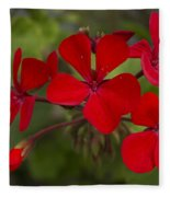 Pelargonium Fleece Blanket
