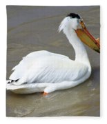Pelecanus Eerythrorhynchos Fleece Blanket
