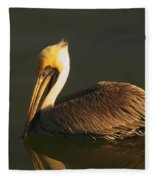Pelican At Dark Fleece Blanket