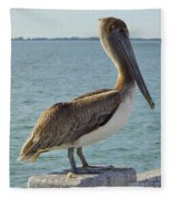 Pelican At The Gulf Fleece Blanket