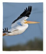 Pelican Flight  Fleece Blanket