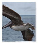 Pelican Fly By Fleece Blanket