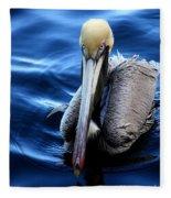 Pelican In The Bay Fleece Blanket