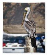 Pelican On Post Fleece Blanket
