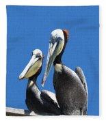 Pelican Pair Fleece Blanket
