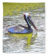 Pelican Reflections Fleece Blanket