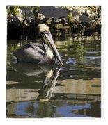 Pelican Reflected Fleece Blanket