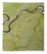 Pelican Valley Abstract Fleece Blanket