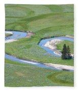 Pelican Valley Swirls Fleece Blanket