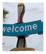 Pelican Welcome Fleece Blanket