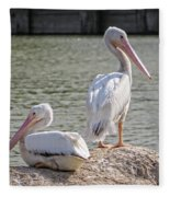 Pelicans By The Pair Fleece Blanket
