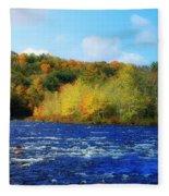 Pemigewassett River Fleece Blanket
