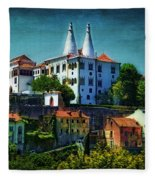 Pena National Palace - Sintra Fleece Blanket