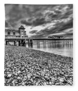 Penarth Pier 2 Mono Fleece Blanket