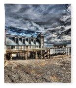 Penarth Pier 6 Fleece Blanket