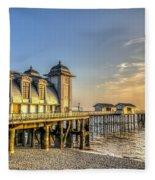 Penarth Pier Dawn Fleece Blanket