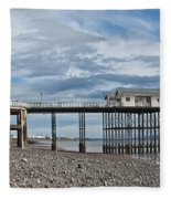 Penarth Pier Panorama 1 Fleece Blanket