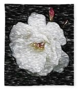 Pencil A Rose Fleece Blanket
