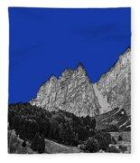 Pencil Sketch Of Dolomites Fleece Blanket