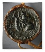 Pendent Wax Seal Of The Council Of Calahorra Fleece Blanket