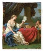Penelope Reading A Letter From Odysseus Fleece Blanket