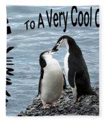 Penguin Anniversary Card Fleece Blanket