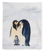 Penguin Family Fleece Blanket