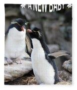 Penguin New Baby Card Fleece Blanket