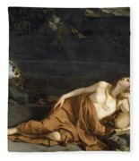 Penitent Mary Magdalene Fleece Blanket
