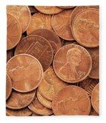 Pennies Fleece Blanket