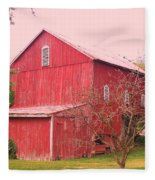 Pennsylvania Barn  Cira 1700 Fleece Blanket