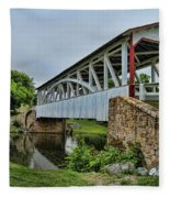 Pennsylvania Covered Bridge Fleece Blanket