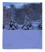 Pennsylvania Snowy Wonderland Fleece Blanket