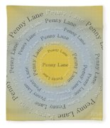 Penny Lane 2 Fleece Blanket